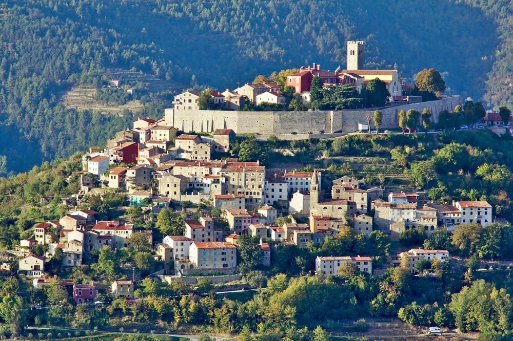 Motovun, italian Montona, medieval village in Croatia
