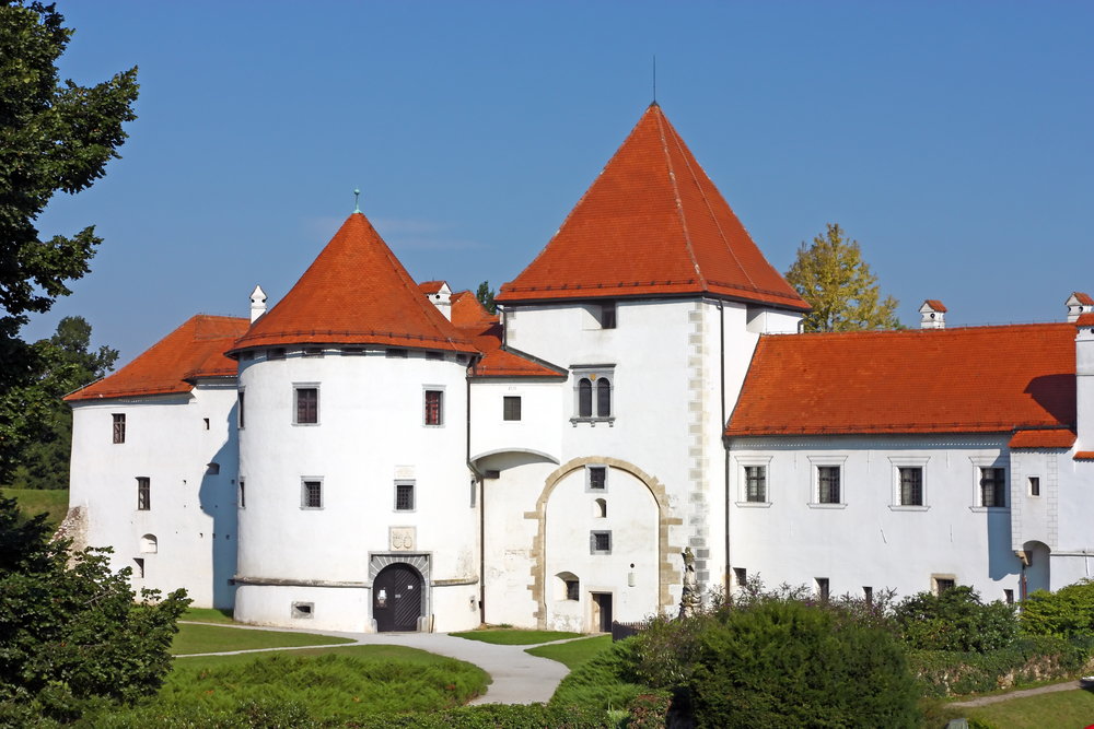 Varazdin castle in the Old Town, originally built in the 13th century